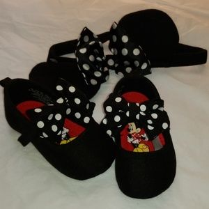Disney shoes with matching minnie mouse ears
